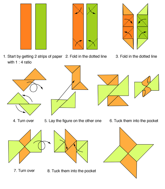 origami ninja star folding instructions origami