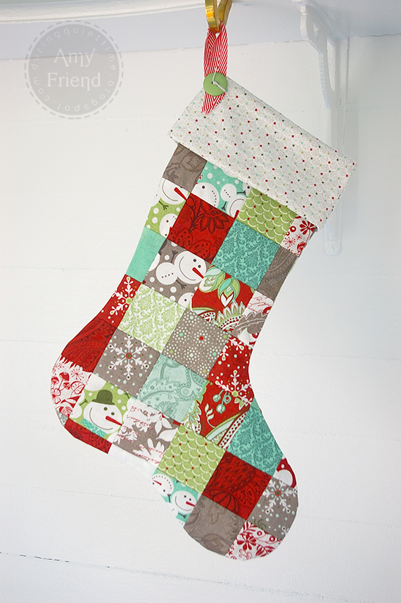 simple patchwork Christmas