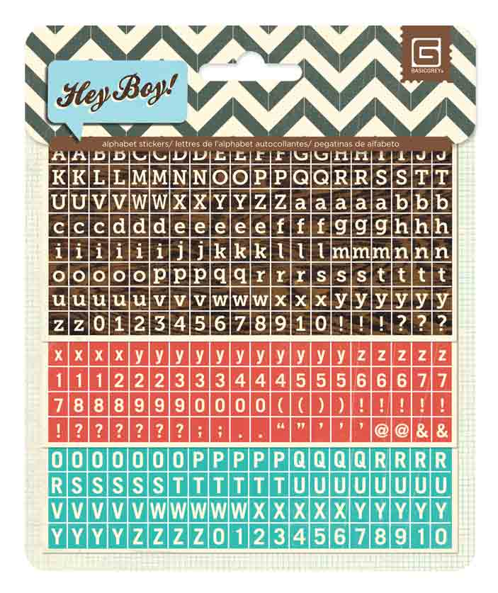 BasicGrey Hey Boy Matchbook Alphaberts