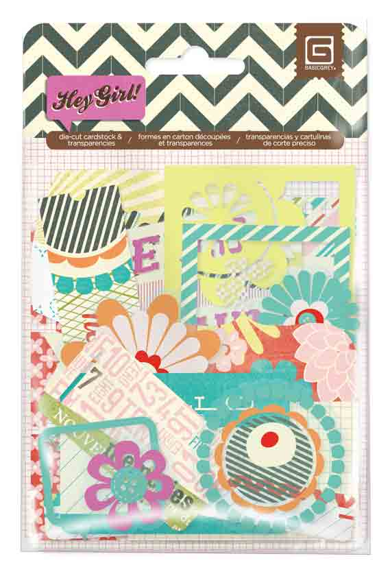 BasicGrey Hey Girl Die Cuts and Transparencies