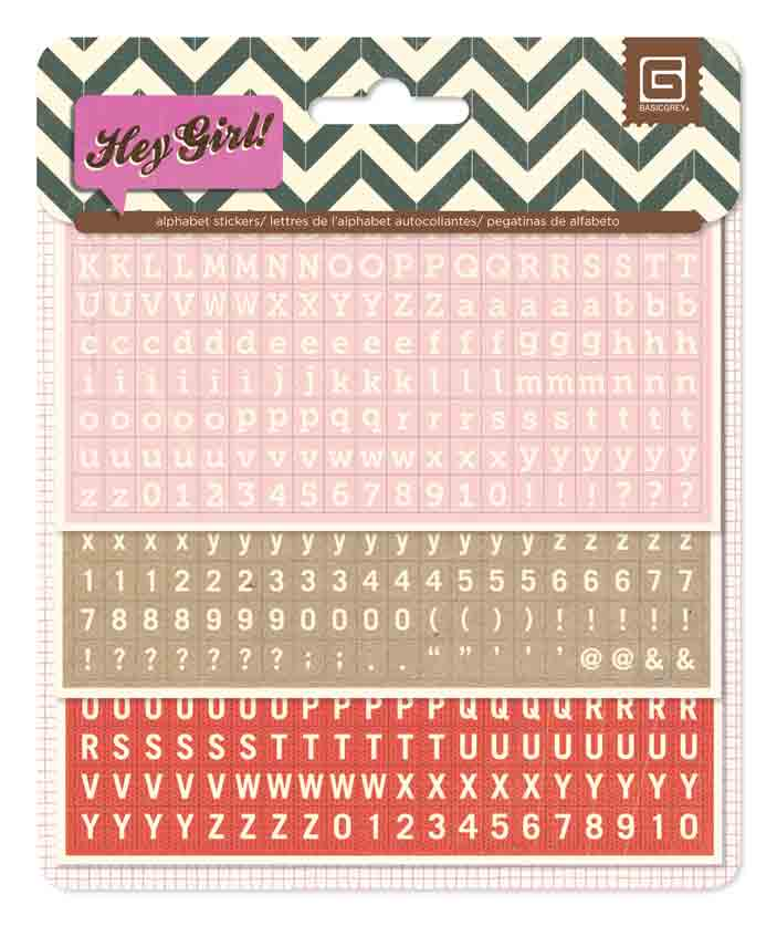 BasicGrey Hey Girl Matchbox Alphabet