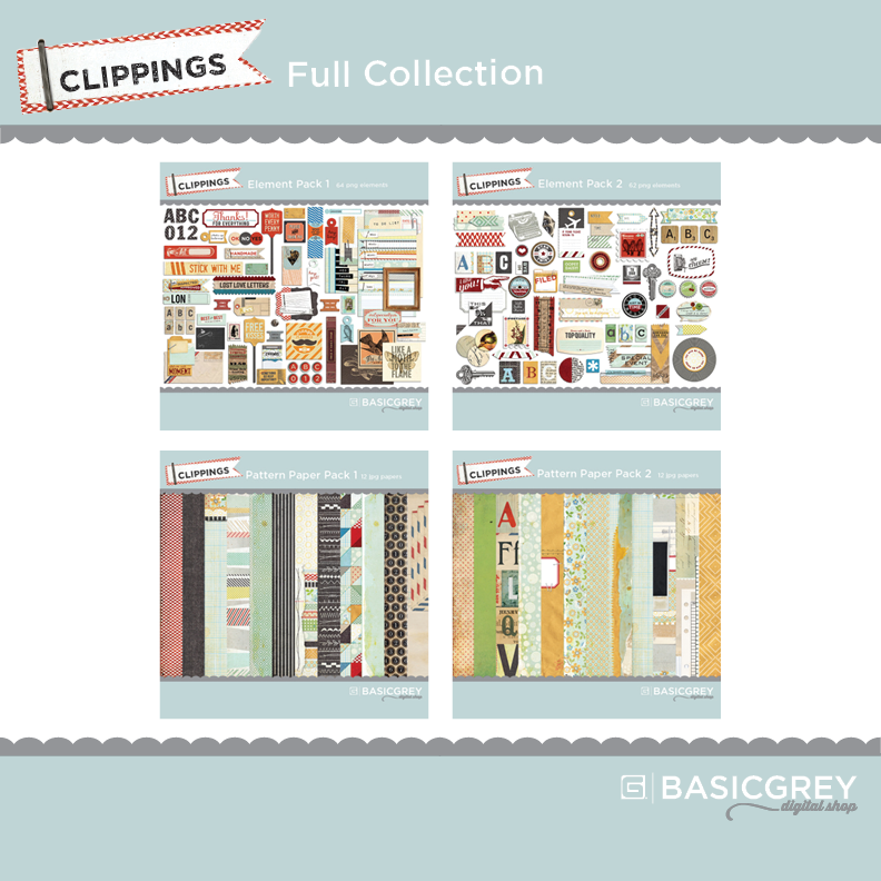 BasicGrey Clippings Kit