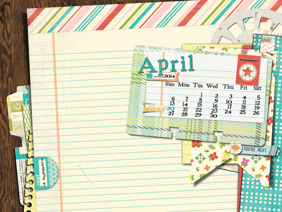 BasicGrey | April 2014 Desktop Calendar | Designed by Arielle Gordon