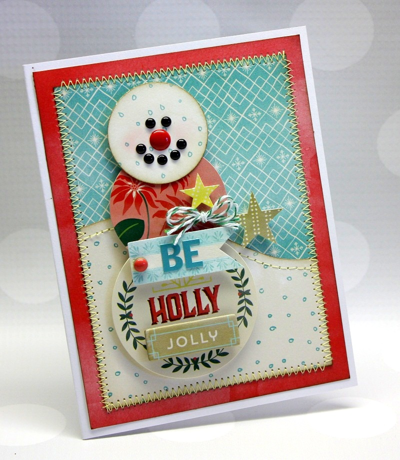 Shellye McDaniel-Evergreen Snowman Card1