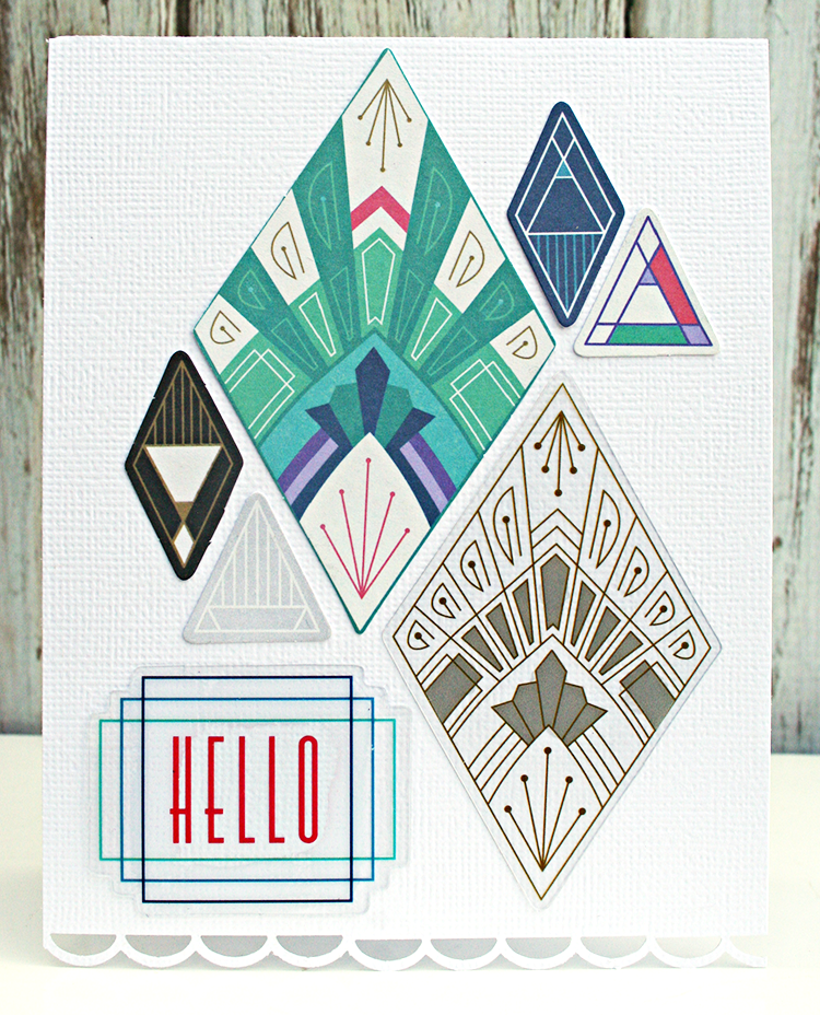 Hello Card by Heather Leopard Basic Grey