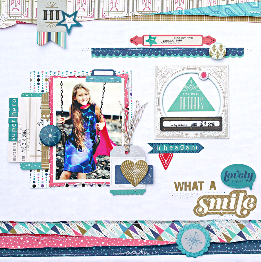 Lovely Smile by Heather Leopard Basic Grey