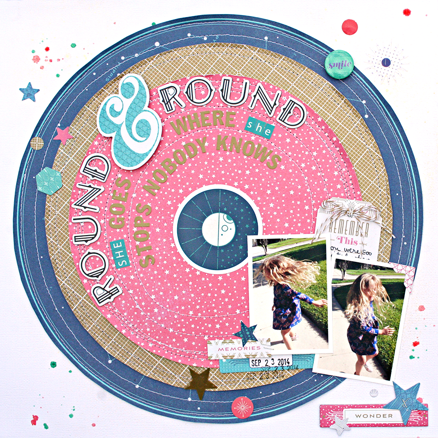 Round and Round by Heather Leopard Basic Grey