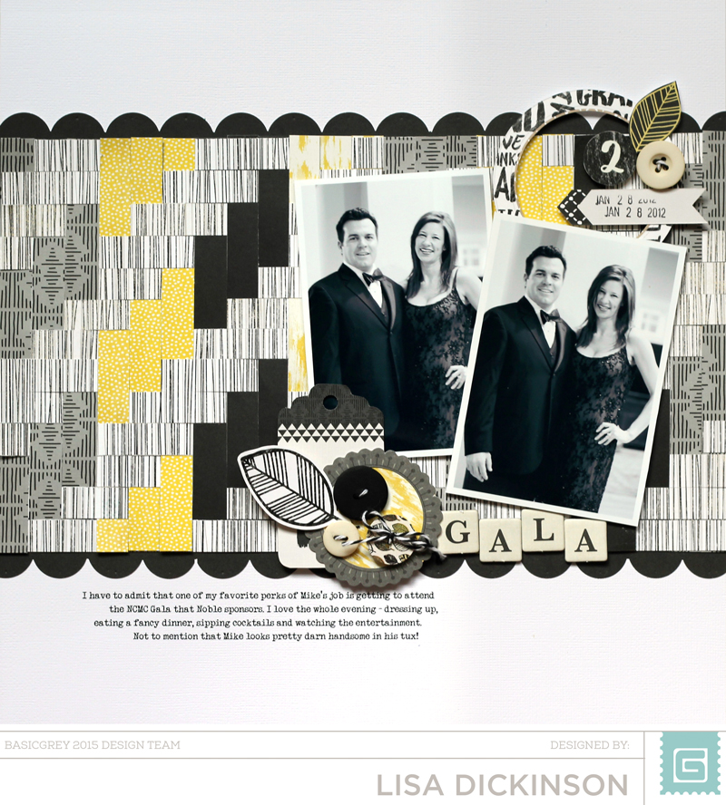 Blueprint challenge with lisa dickinson basicgrey blog i chose several of the yellow and grey patterns and cut them into 12 strips i used the hot chocolate paper for the horizontal strips and alternated the malvernweather Choice Image